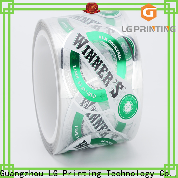 Quality self adhesive label sticker foil cost for bottle