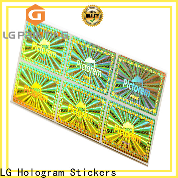 LG Printing Custom original hologram sticker supply for garment hangtag