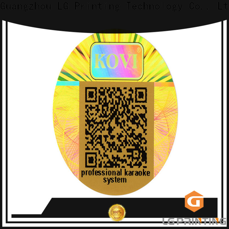 LG Printing scratch off personalised holographic stickers vendor for garment hangtag
