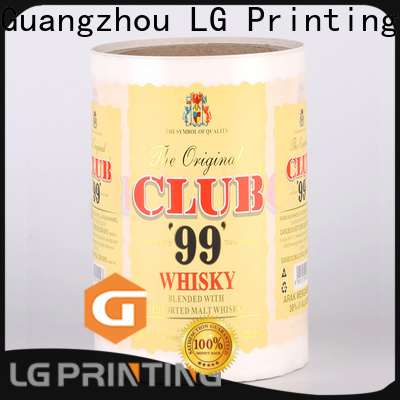 LG Printing foil food packaging materials factory price for cans