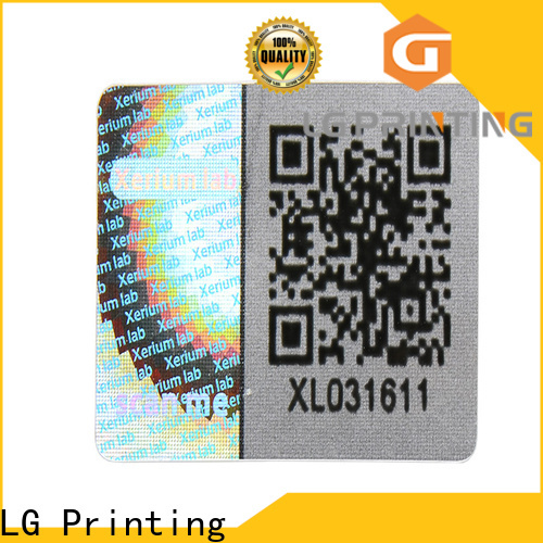 LG Printing barcode china sticker manufacturers vendor for cosmetics