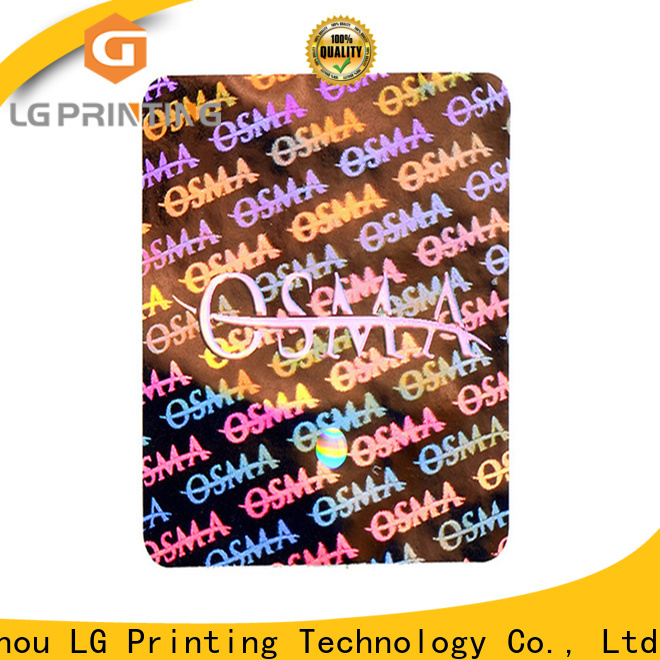 LG Printing printing hologram sticker maker manufacturers for skin care products