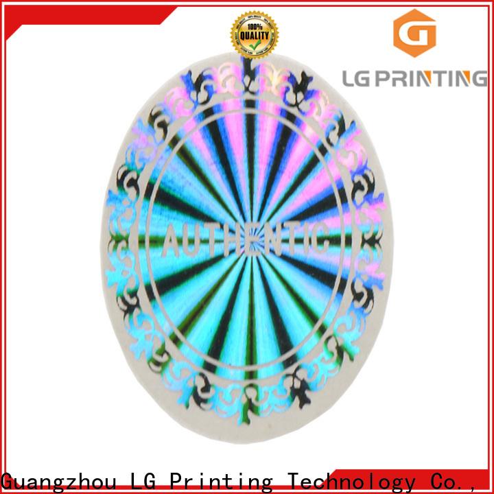 LG Printing Custom hologramlı sticker suppliers for pharmaceuticals