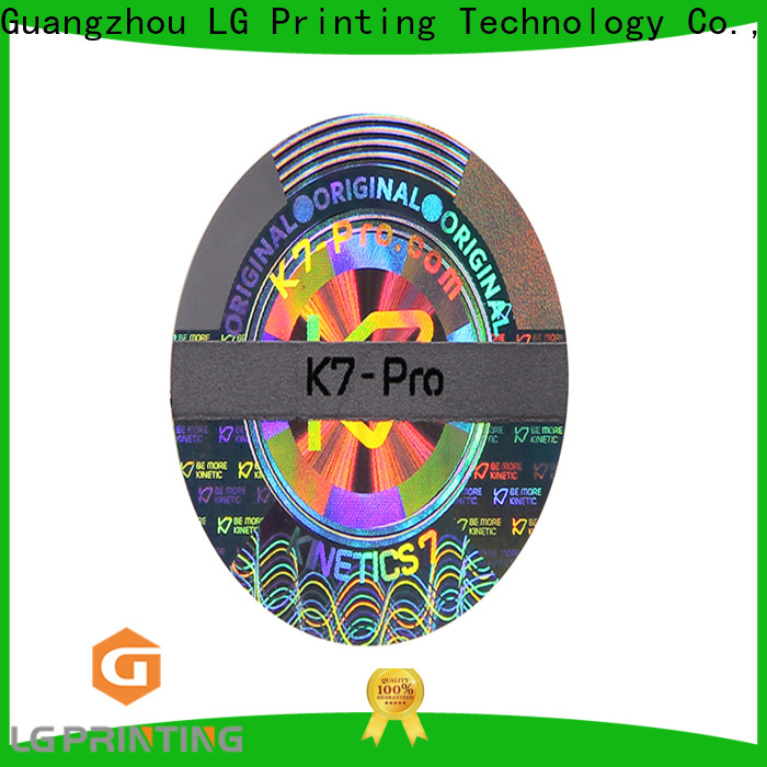 Custom hologram security label bar company for skin care products