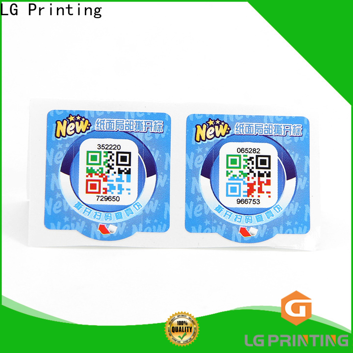 LG Printing Best sticker labels for clothes factory for bottles