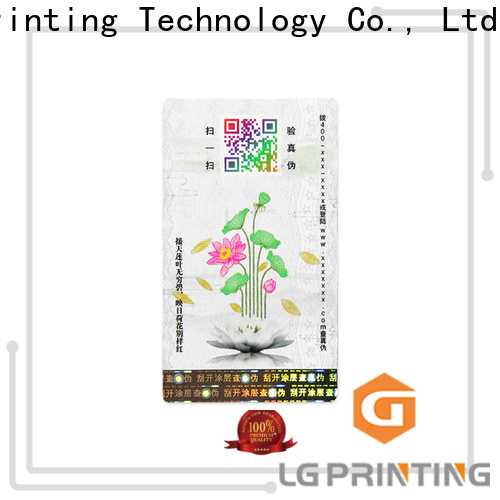 LG Printing Custom counterfeit labels factory