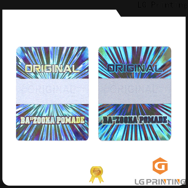 Quality cheap holographic stickers one time factory for garment hangtag
