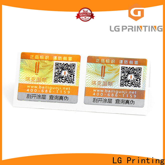 LG Printing tamper labels manufacturers for box