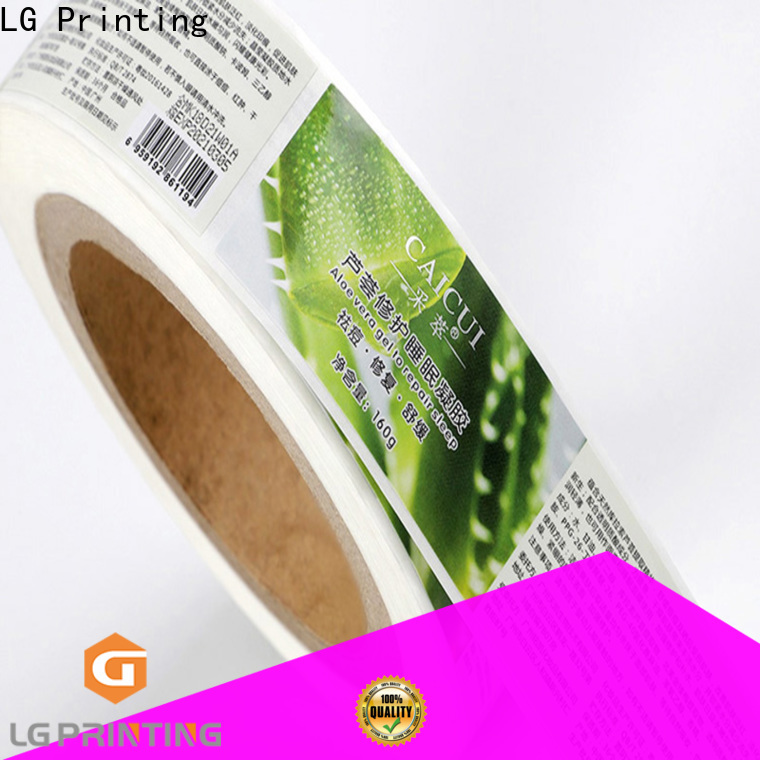 LG Printing Quality self adhesive labelling vendor for bottle