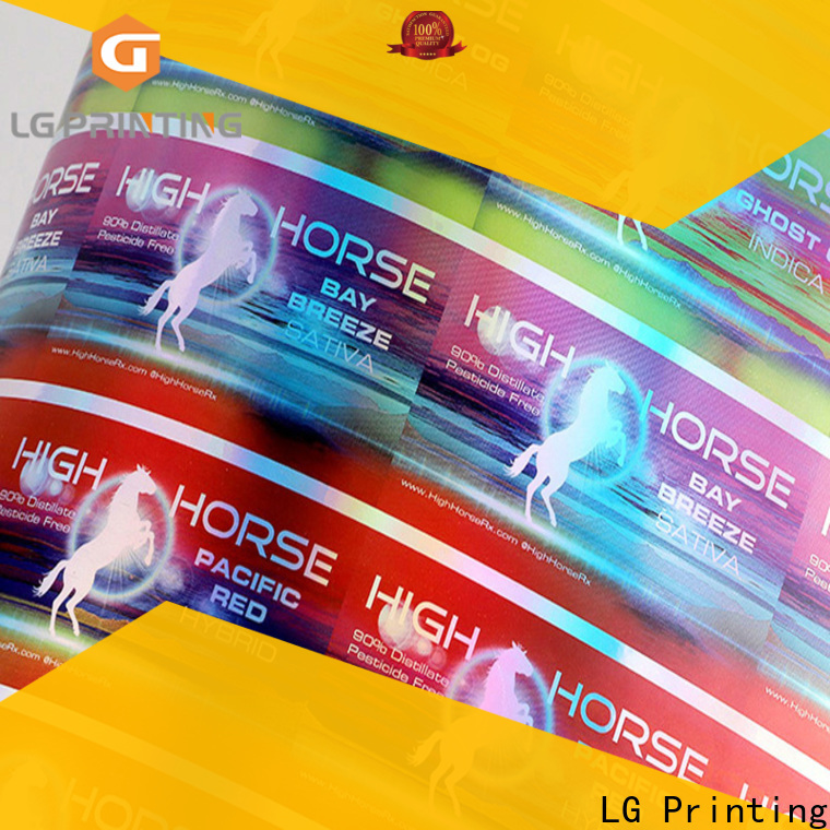 LG Printing holographic lip gloss labels company for plastic box surface
