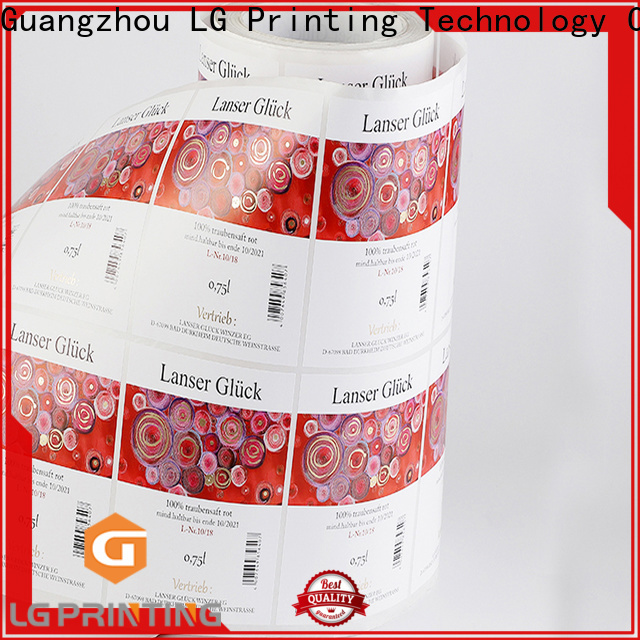 LG Printing Best bottle labeling company factory price for wine bottle