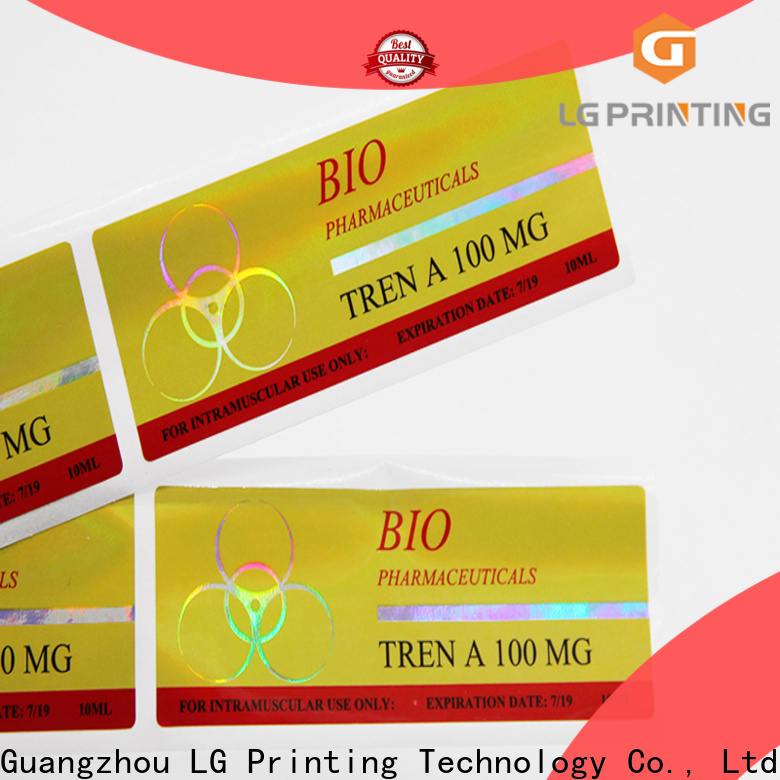 LG Printing custom made hologram stickers cost for metal box surface