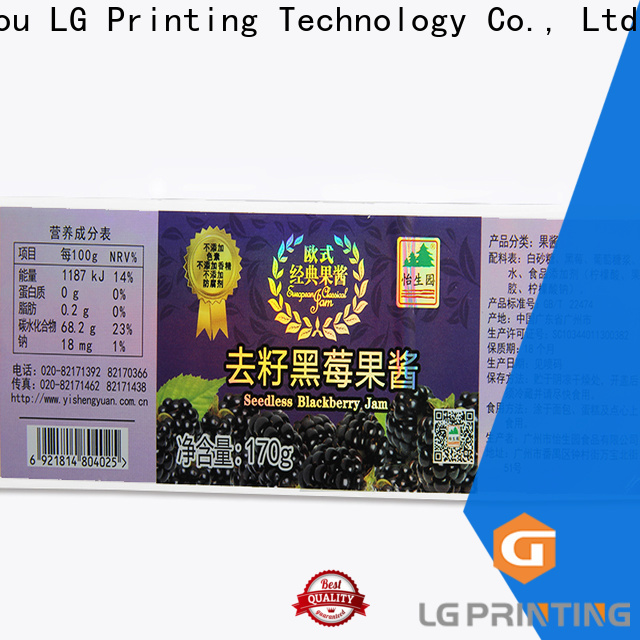 LG Printing transparent holographic stickers vendor for package