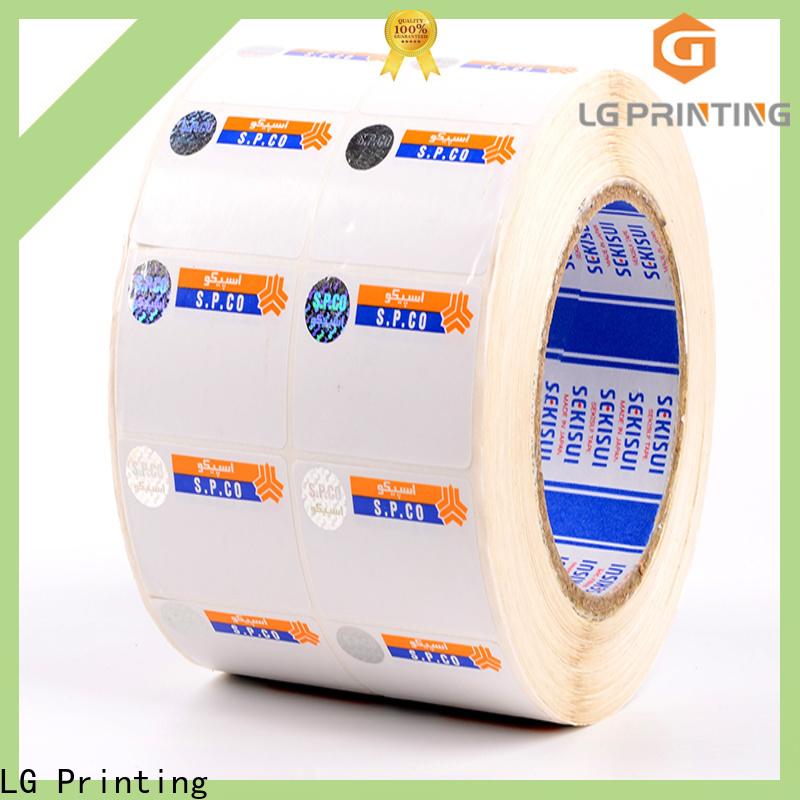 LG Printing Bulk buy custom security stickers manufacturers for box