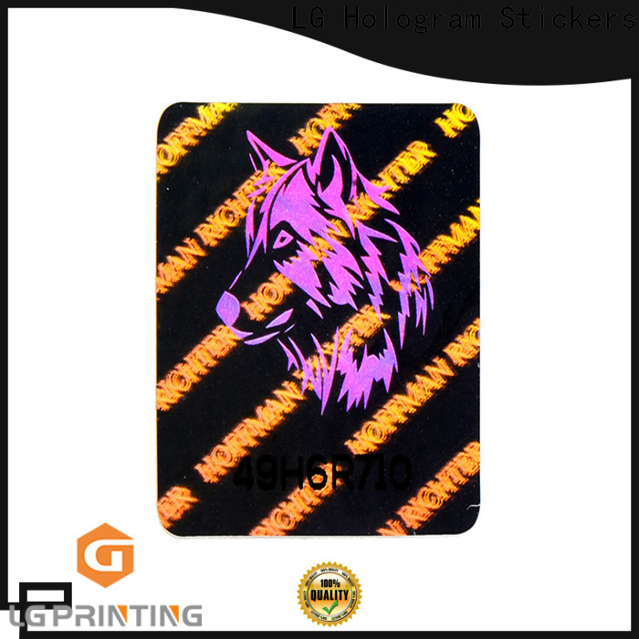 LG Printing holographic holographic security stickers for garment hangtag