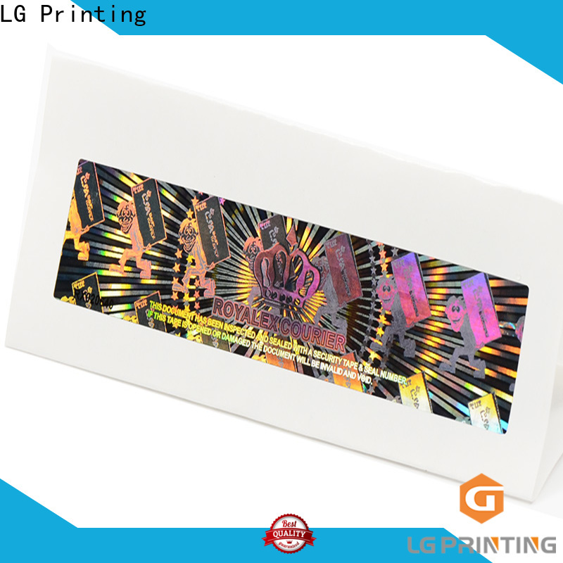 LG Printing barcode qr code sticker printing wholesale for cosmetics