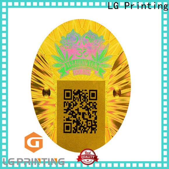 LG Printing Best printable hologram stickers factory price for cosmetics