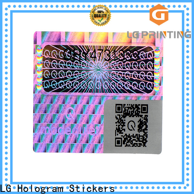 LG Printing Bulk buy holographic sticker paper suppliers for cosmetics