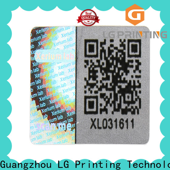 LG Printing hologram sticker factory price for cosmetics