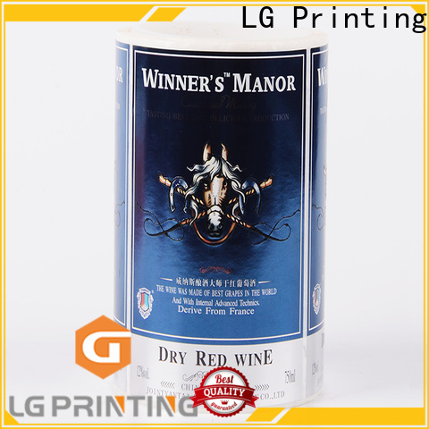 Bulk vinyl adhesive stickers gold for bottle