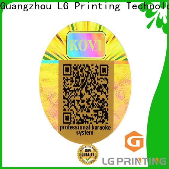 LG Printing golden label hologram price for pharmaceuticals