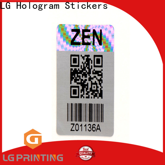 Customized holographic film 3d company for garment hangtag