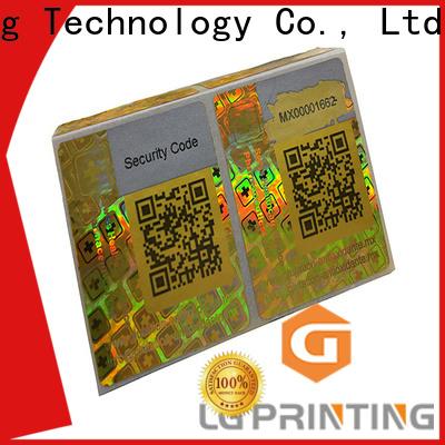 LG Printing Bulk buy serial number stickers company for garment hangtag