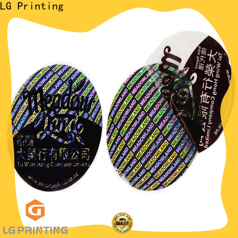 LG Printing Custom made hologram sticker factory price for garment hangtag