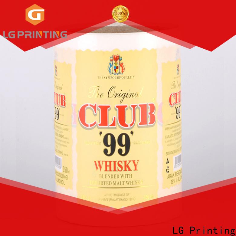 Professional red wine bottle labels bopp price for bottle