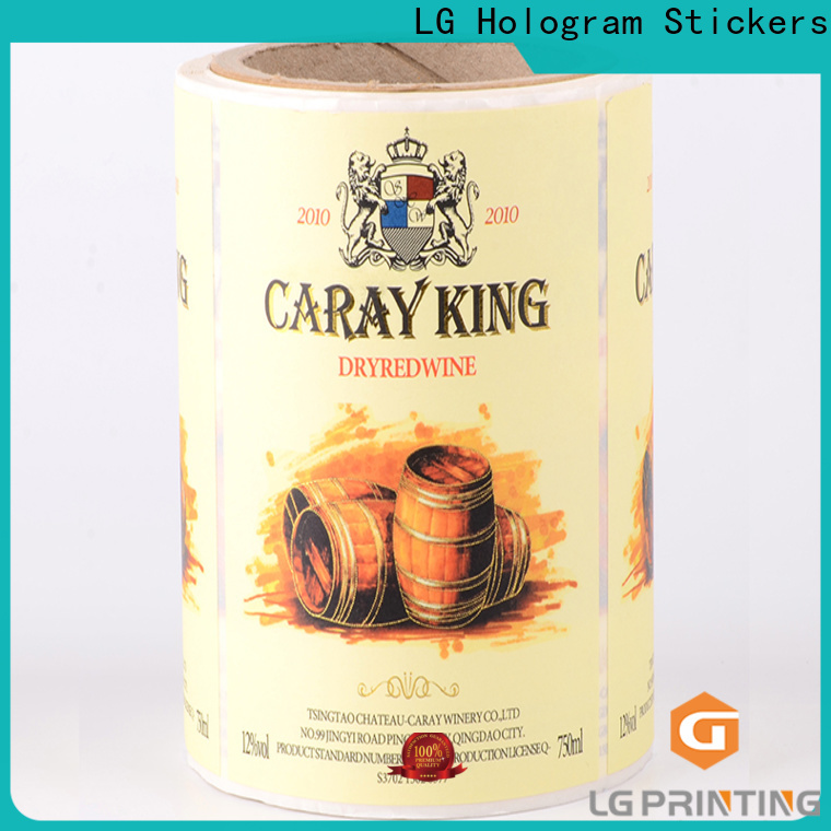 Bulk custom barcode labels pvc supply for jars