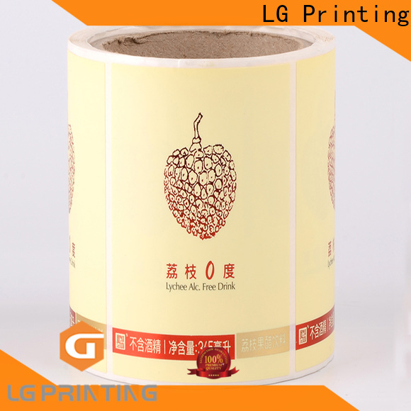 LG Printing Quality plastic labels vendor for bottle