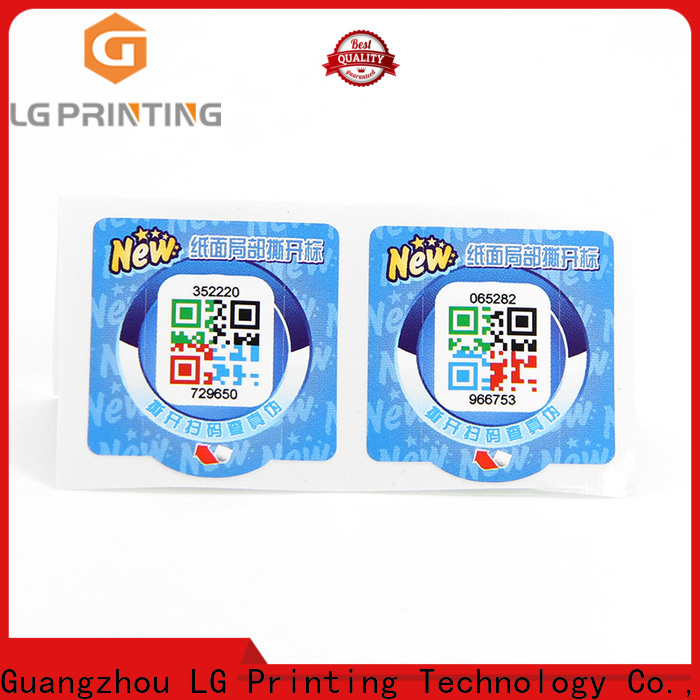 LG Printing hologram security label factory price for bottles