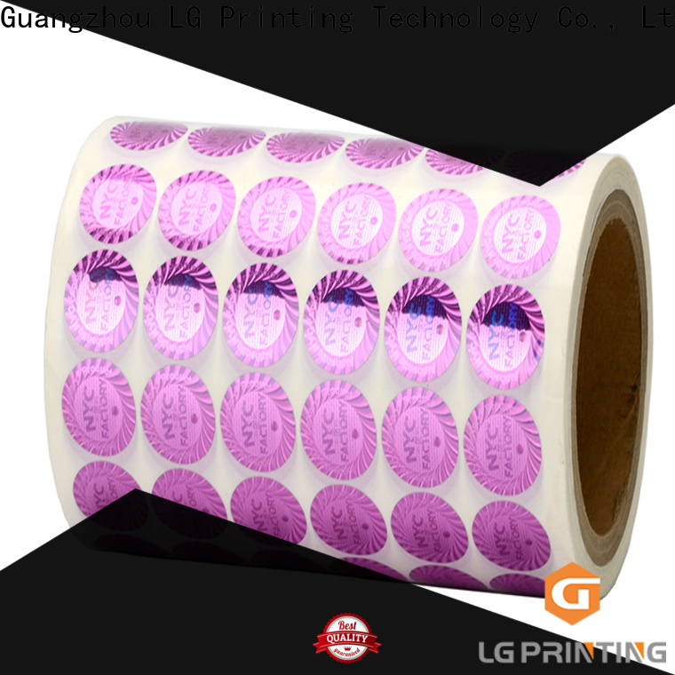 LG Printing Bulk custom logo hologram stickers factory price for electronics
