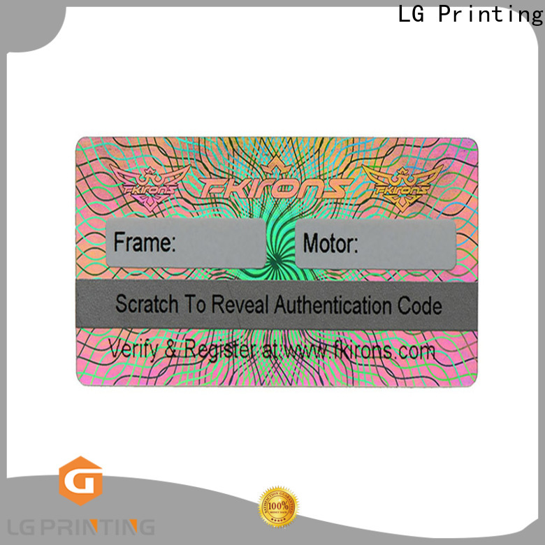 LG Printing Best hologramm sticker company for skin care products