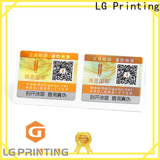 LG Printing custom self adhesive label manufacturers price for goods