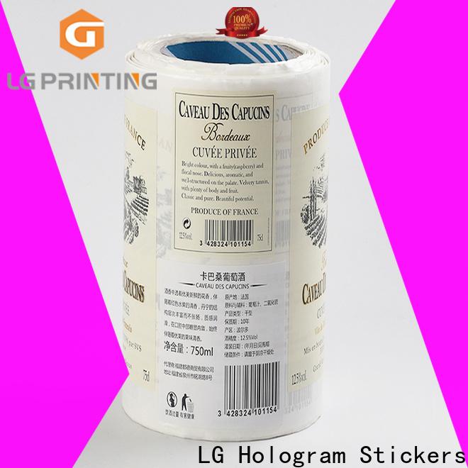 Custom adhesive vinyl labels pvc supply for bottle