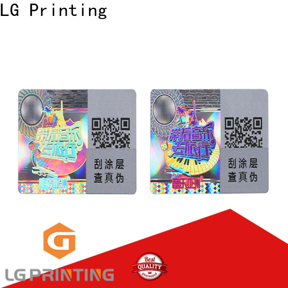 LG Printing barcode hologram seal stickers supply for skin care products