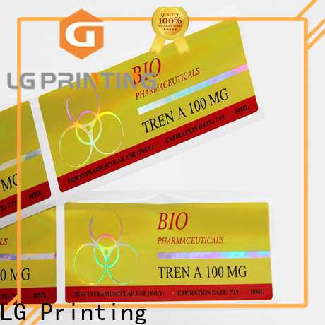 LG Printing holographic paper sticker wholesale for package