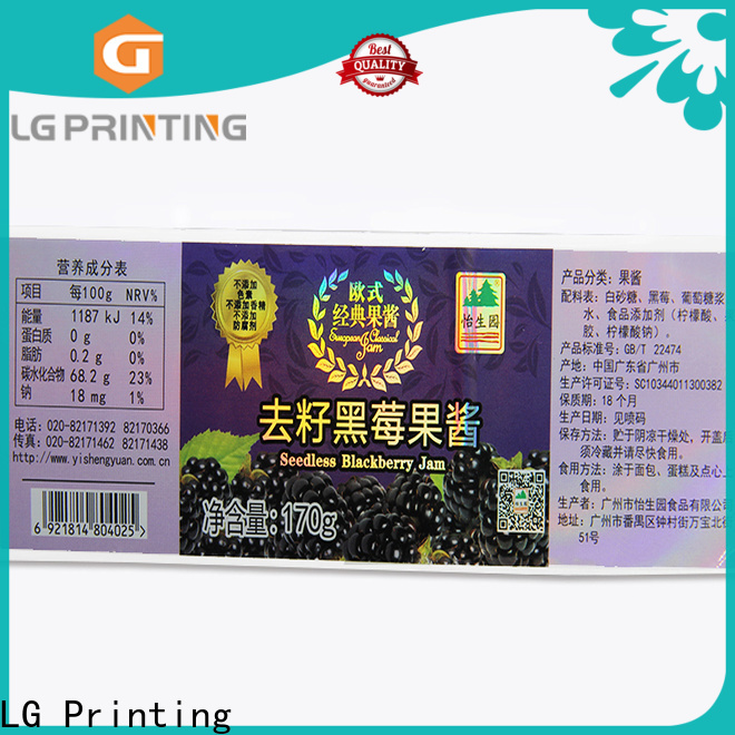 LG Printing custom holographic decals factory price for package