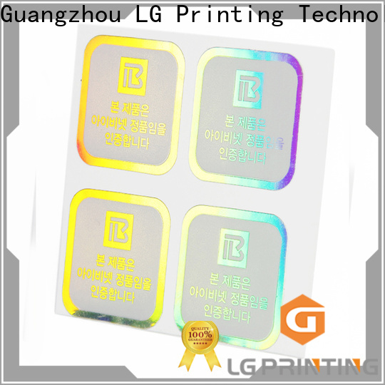 LG Printing holographic paper sticker price for package