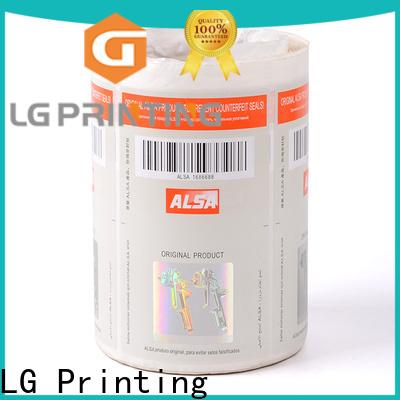 LG Printing Bulk buy holographic sticker for bag