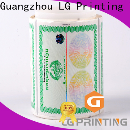 LG Printing fake holographic product labels wholesale for bag