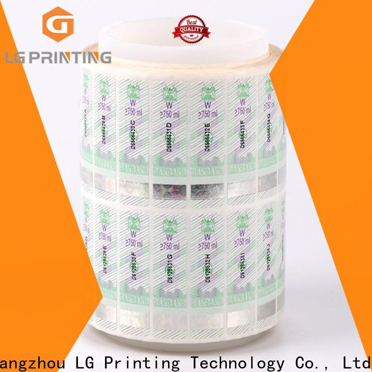 LG Printing Bulk custom size sticker labels wholesale for goods