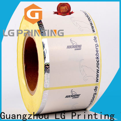 LG Printing Quality custom security hologram stickers wholesale for goods