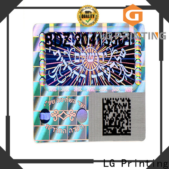 LG Printing Quality personalised hologram stickers manufacturers for cosmetics