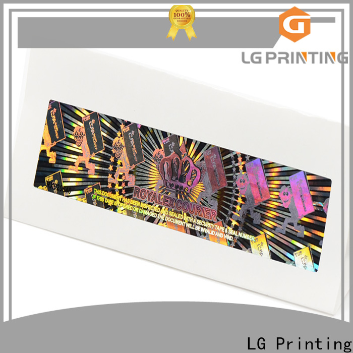 LG Printing Bulk transparent hologram stickers company for skin care products
