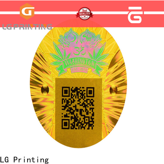 LG Printing silver holographic stickers custom price for electronics