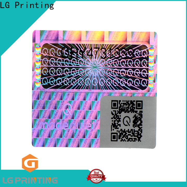 LG Printing silver security company stickers manufacturers for skin care products