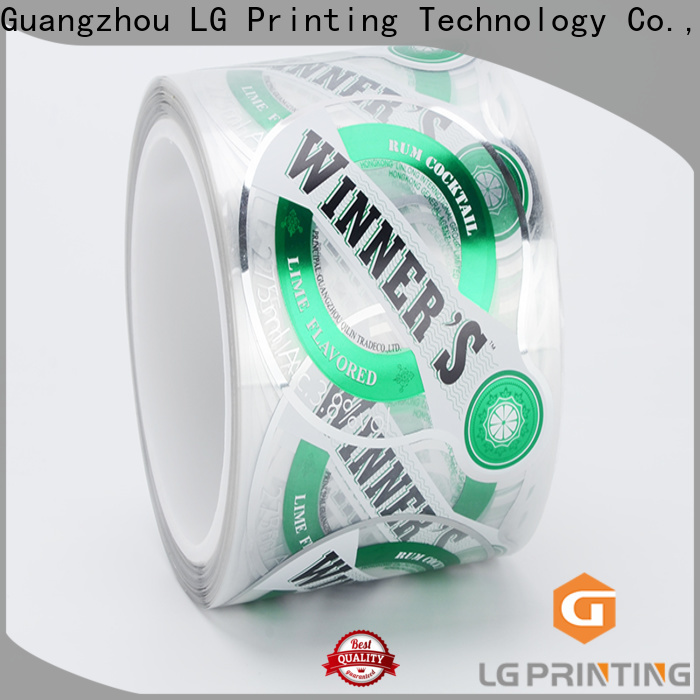 LG Printing foil shipping label generator cost for bottle
