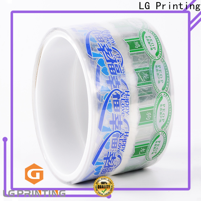 LG Printing Quality self adhesive vinyl labels factory for cans